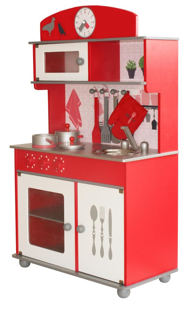 Toy Kitchens For Boys : Nicko wooden toy children s play kitchens pink red boy